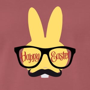 Easter Design with a Hipster Easter Bunny - Mannen Premium T-shirt