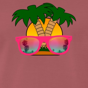 Summertime! Sunglasses & Palm Trees - Men's Premium T-Shirt