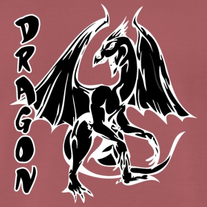 staande dragon black - Mannen Premium T-shirt