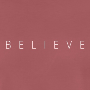 BELIEVE_TEXT - Premium-T-shirt herr