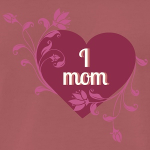 i love mom red heart - Men's Premium T-Shirt