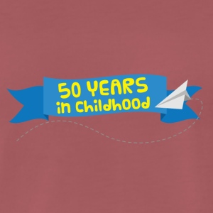 50th Anniversary: ​​50 Years in Childhood - Premium T-skjorte for menn