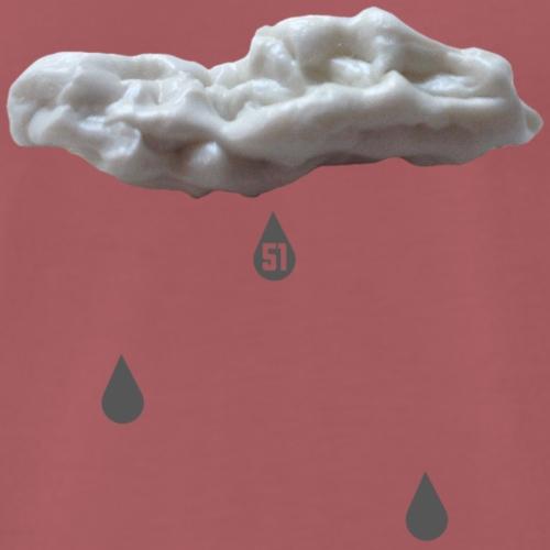 Nuvola con gocce grigie - Maglietta Premium da uomo