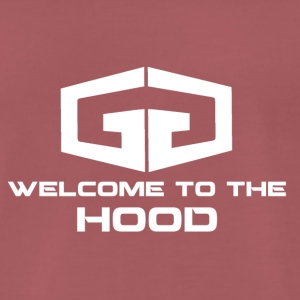GG Welcome to the Hood Logo white - Men's Premium T-Shirt