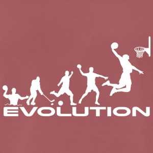 Basketball evolution - Herre premium T-shirt