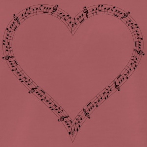 musical heart - Men's Premium T-Shirt