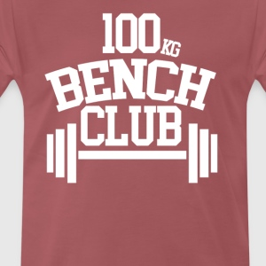 100 KG BENCH CLUB - Premium T-skjorte for menn