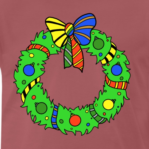 Christmas Wreath in House Colours - Men's Premium T-Shirt