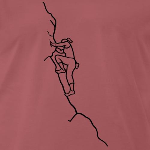 Kletter-Girl, schwarz, 3 - Männer Premium T-Shirt