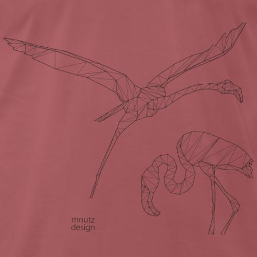 ORIGAMI Flamingos - Männer Premium T-Shirt