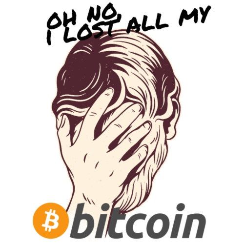 I lost my Bitcoin! BTC - Männer Premium T-Shirt