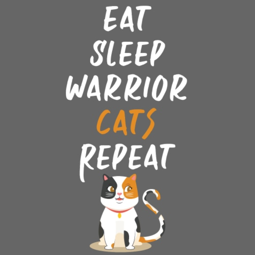 Eat sleep warrior cats repeat - T-shirt Premium Homme