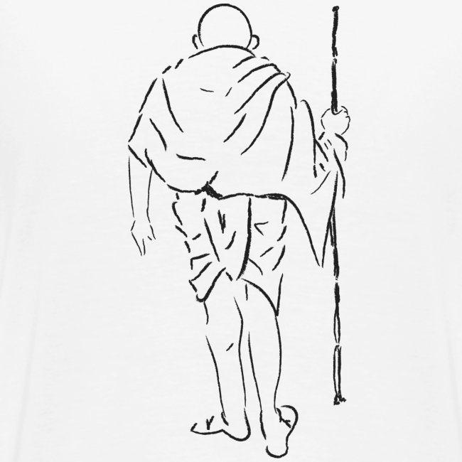 mahatma gandhi silhouette ac61da original white