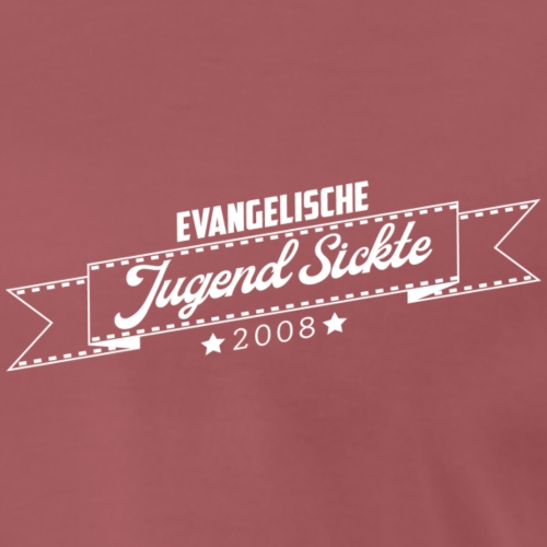 Schriftzug Jugend Sickte weiss - Männer Premium T-Shirt