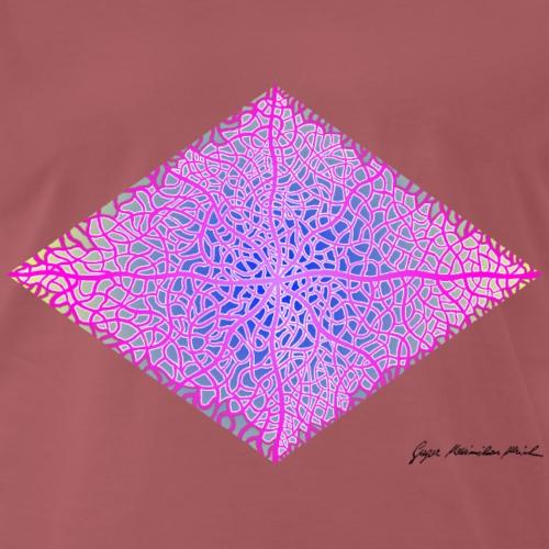 Karo mit Adern 39 - Männer Premium T-Shirt