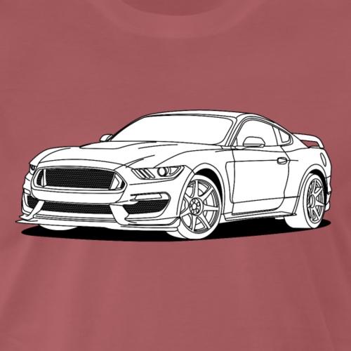 Cool Car White - Men's Premium T-Shirt