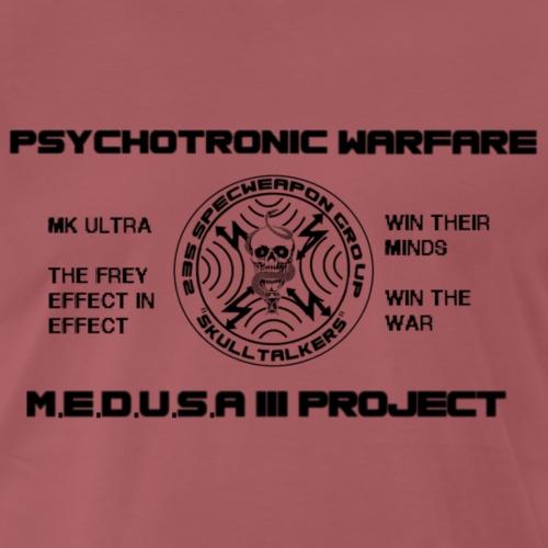 pshycotronic warfare black png - Men's Premium T-Shirt