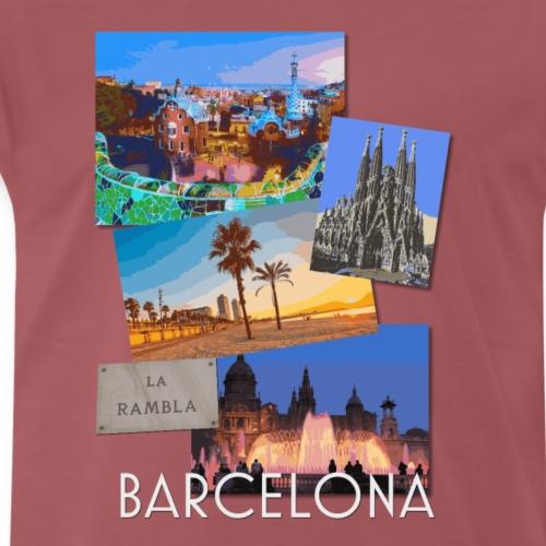 Barcelona Catalunya Spain poster travel t shirt - Men's Premium T-Shirt