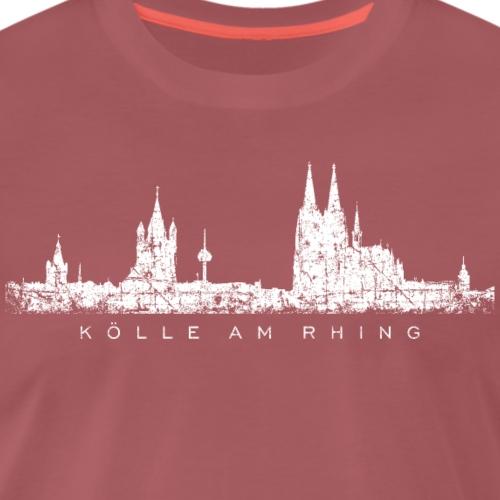 Kölle am Rhing Köln Kölner Skyline (Vintage Weiß) - Männer Premium T-Shirt