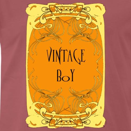 vintage boy, art nouveau style poster - Men's Premium T-Shirt