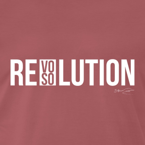 REVOLUTION or RESOLUTION - Maglietta Premium da uomo