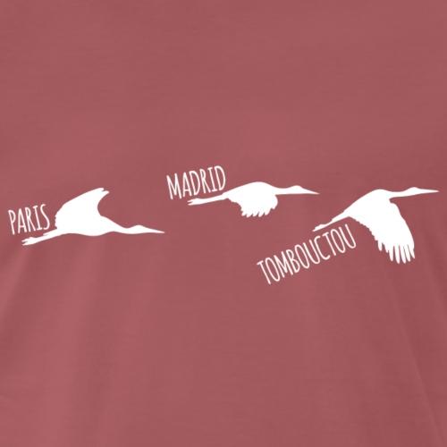 3 horizons oiseaux white - T-shirt Premium Homme
