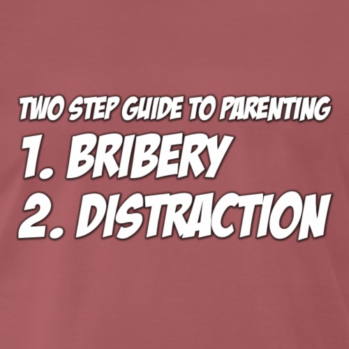 Two step guide to parenting - Men's Premium T-Shirt