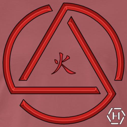 red triangle kanji - Maglietta Premium da uomo