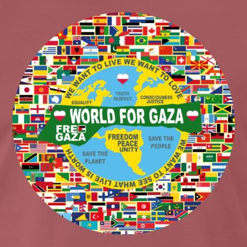 POLAND EDITION YELLOW WORLD FOR GAZA - Koszulka męska Premium