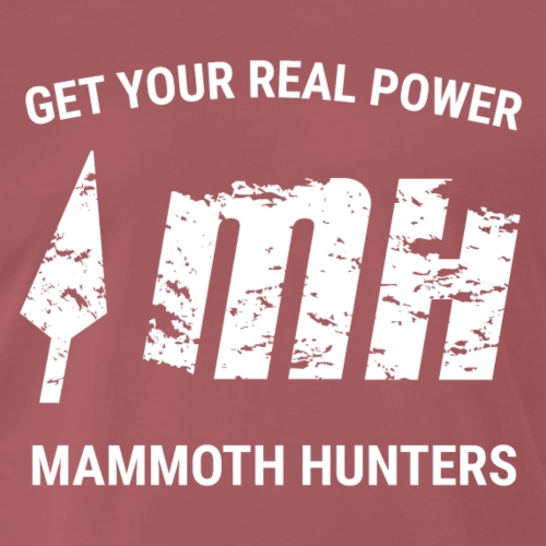 Mammoth Hunters / Blanco - Camiseta premium hombre