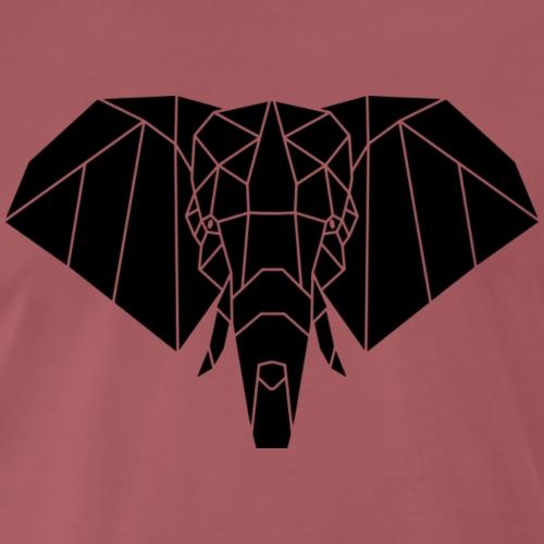 Gezeichneter Elefant - Männer Premium T-Shirt
