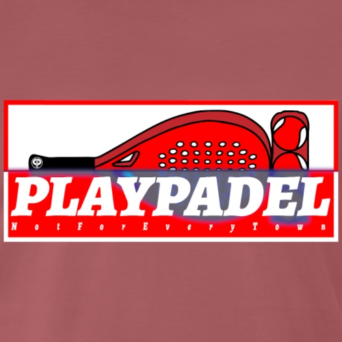 PLAYPADELTerracinaBiancoRossoSlim - Maglietta Premium da uomo