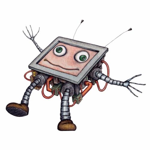 Roboter Dizzy schwindlig - Männer Premium T-Shirt