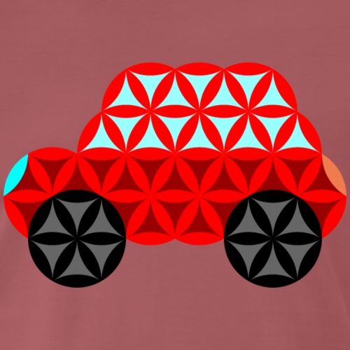 The Car Of Life - 01, Sacred Shapes, Red. - Men's Premium T-Shirt