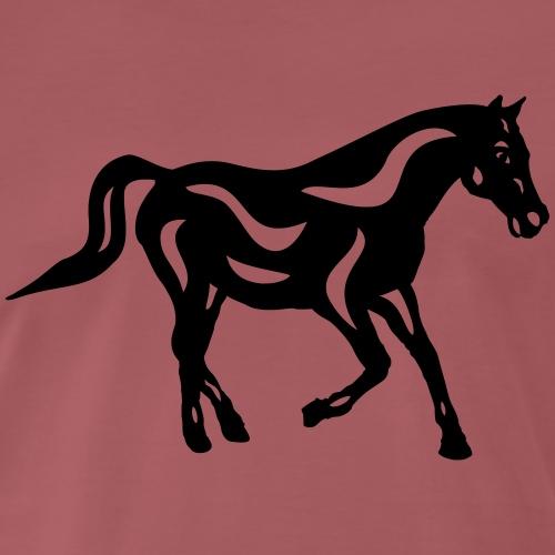 Abstraktes Pferd Heinrich - Männer Premium T-Shirt