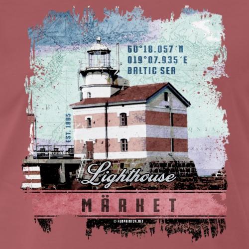 Märket majakkatuotteet, Finland Lighthouse, väri - Miesten premium t-paita