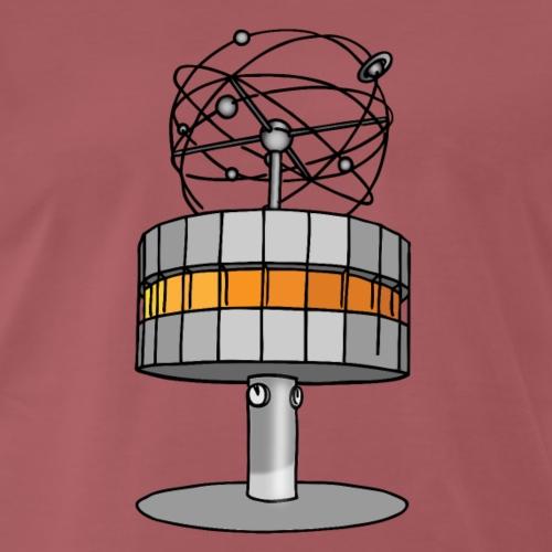 Weltzeituhr BERLIN c - Männer Premium T-Shirt