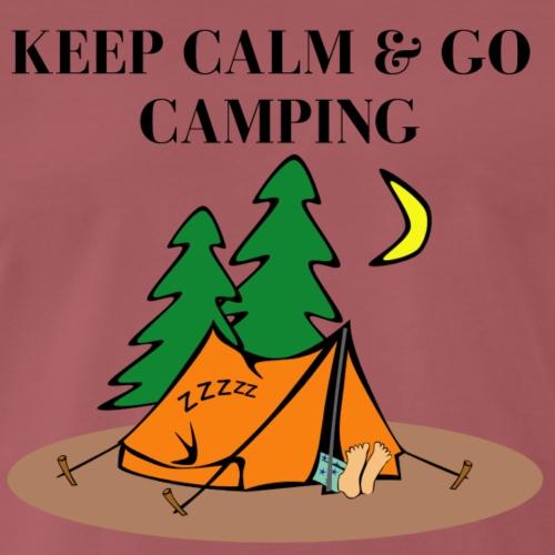 Keep Calm Go Camping - Geschenk - Männer Premium T-Shirt
