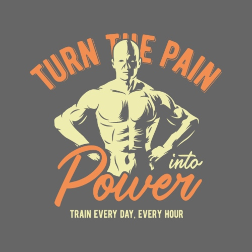 Turn the pain into Power - Männer Premium T-Shirt