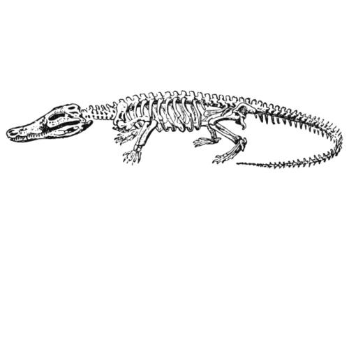 Skeleton Crocodile - Männer Premium T-Shirt