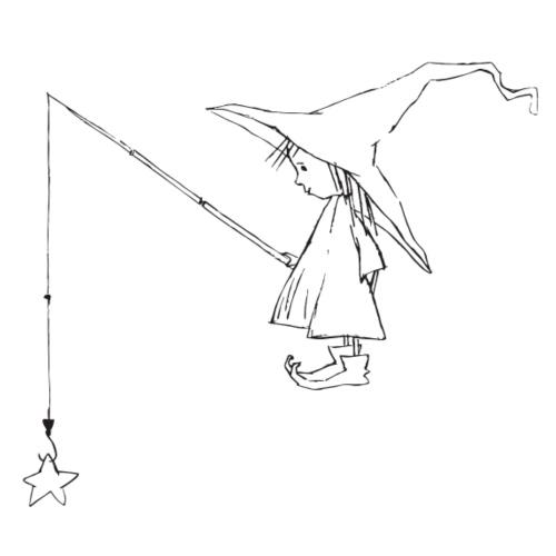 Transparent Witch standing - Männer Premium T-Shirt