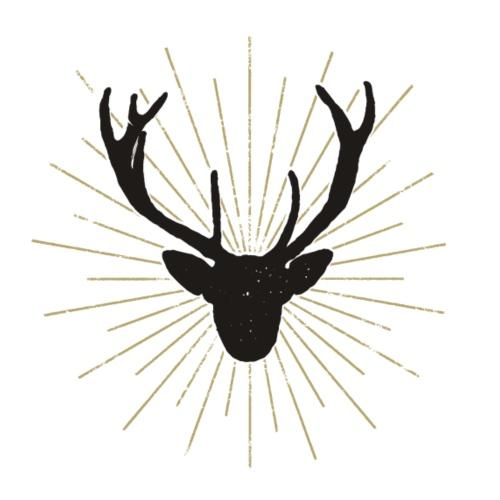 Deer Sunset - Männer Premium T-Shirt
