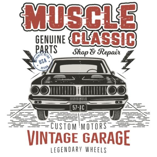 Vintage Garage - Männer Premium T-Shirt