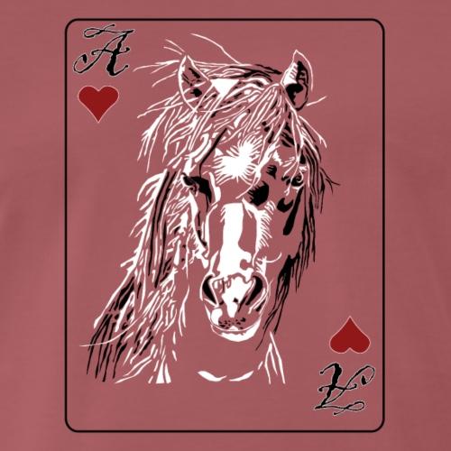 Erorxshirts Horse Pferde shirt Herz ass - Männer Premium T-Shirt