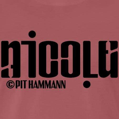 Ambigramm Nicole 01 Pit Hammann - Männer Premium T-Shirt
