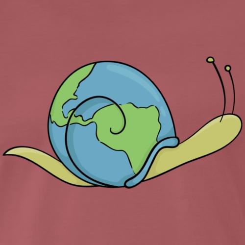 Slow Globe - Mannen Premium T-shirt
