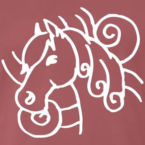 Pferdekopf Wirbel Farbe anpassbar Geschenk Lustig - T-shirt Premium Homme