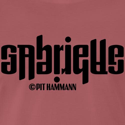 Ambigramm Gabrielle 01 Pit Hammann - Männer Premium T-Shirt