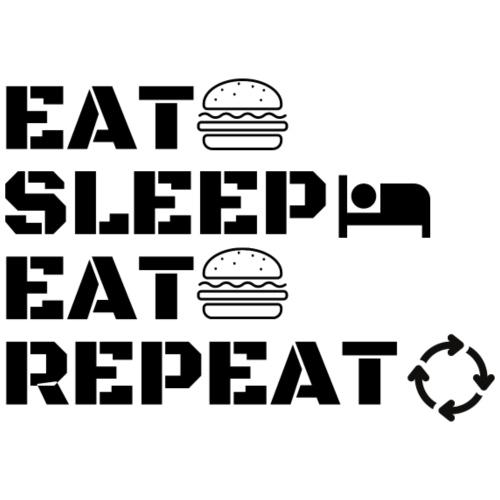 eat sleep eat repeat - T-shirt Premium Homme