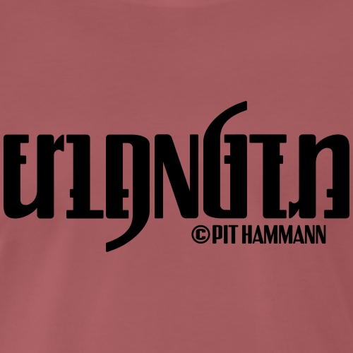 Ambigramm Erlangen 01 Pit Hammann - Männer Premium T-Shirt